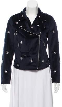 Rebecca Minkoff Velvet Moto Jacket