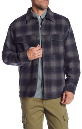Joe Fresh Wool Blend Button Down Shirt Jacket