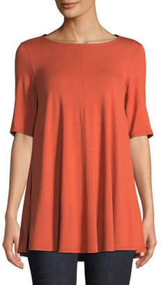 Eileen Fisher Short-Sleeve Jersey Tunic, Petite