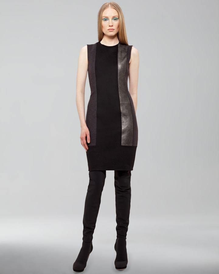 Akris Paneled Sheath Dress