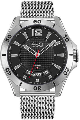 ESQ Men ESQ0181 Stainless Steel Bracelet Watch with Black Dial and Date Window