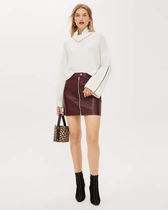 Topshop Leather-Look Mini Skirt