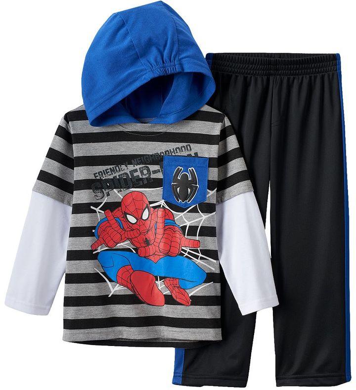 "Spider-Man ""Friendly Neighborhood Spider-Man"" Hooded Tee & Pants Set - Toddler Boy"