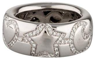 Ring 18K Heart Star Moon Diamond Band