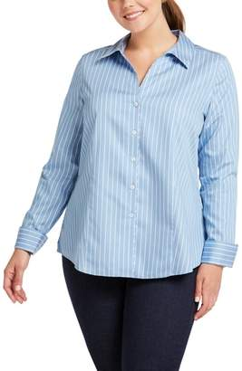 Foxcroft Lauren Non-Iron Stripe Sateen Shirt
