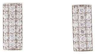 Melissa Kaye 18K Diamond Bar Earrings