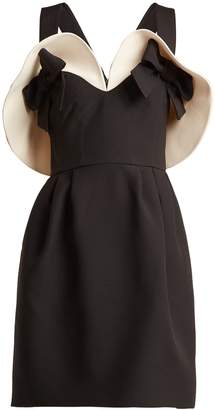 Valentino Bow-detailed wool and silk-blend dress