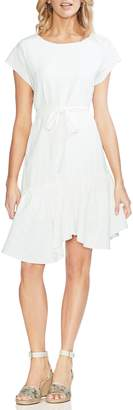 Vince Camuto Ruffle Hem Belted A-Line Dress
