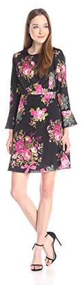 Betsey Johnson Women's Bell-Sleeve Floral Dress $18.71 thestylecure.com