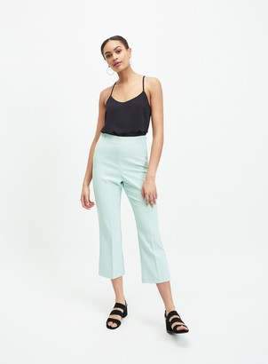 Miss Selfridge Sage Green Crop Kick Flare Trousers