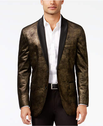 Inc International Concepts Men's Classic-Fit Distressed Foil Blazer, Created for Macy's $129.50 thestylecure.com