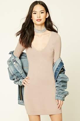 Forever 21 V-Neck Bodycon Dress