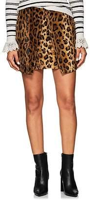 Philosophy di Lorenzo Serafini Women's Leopard-Print Velvet Miniskirt