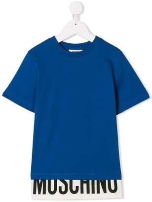 Moschino Kids panelled logo print T-shirt