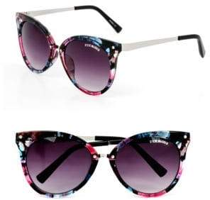 Steve Madden 58mm Floral Cat-Eye Sunglasses
