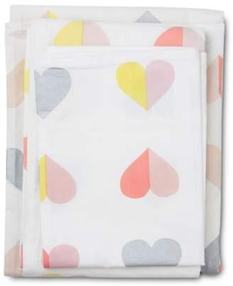 Lil' Pyar Hearts Twin Sheet & Pillowcase Set