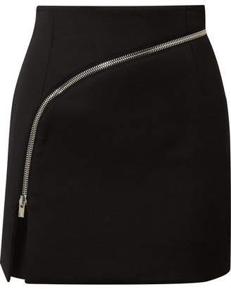 Alexander Wang Zip-detailed Twill Mini Skirt - Black