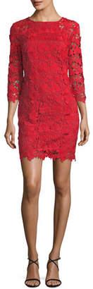 Trina Turk 3D Garden Vine Lace Mini Dress