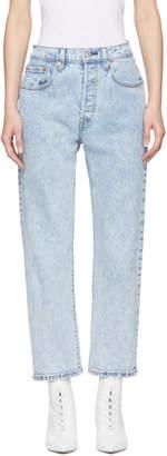 Levi's Levis Blue 501 Cropped Jeans