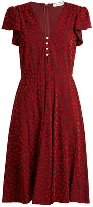 Altuzarra Camilla flocked spot-print cady dress