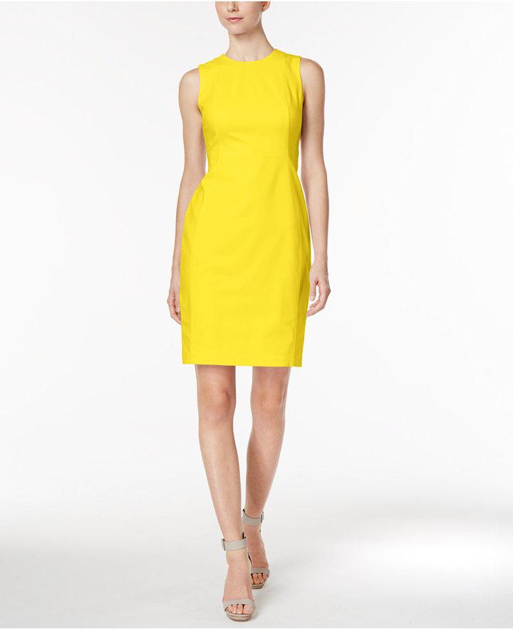 Calvin Klein Stretch Canvas Sheath Dress 4