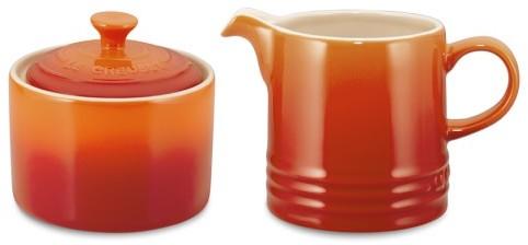Le Creuset Café Stoneware Sugar Bowl & Creamer
