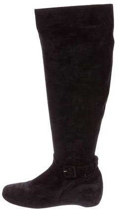 Christian Louboutin  Christian Louboutin Suede Knee-High Boots