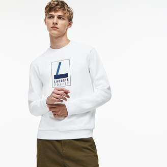 Lacoste Men's Crew Neck Print Fleece Sweatshirt