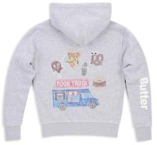 Butter Shoes Girls' Embellished Food Truck Hoodie, Big Kid - 100% Exclusive