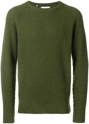 Closed ribbed knit sweater