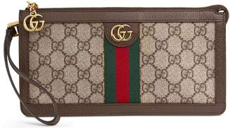 Gucci GG Supreme Canvas Travel Wristlet