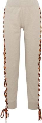 Acne Studios Diana Melange Lace-up Cotton-fleece Track Pants