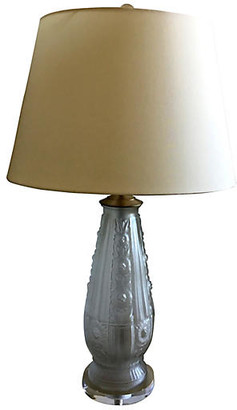 One Kings Lane Vintage French Frosted Glass Lamp - C the Light Interiors
