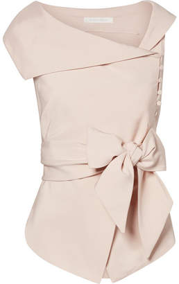 Jonathan Simkhai Stretch-cady Wrap Top - Blush