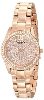 Kenneth Cole New York Men's KC0005 Classic Round Rose Gold Stone Dial Bezel Bracelet Watch