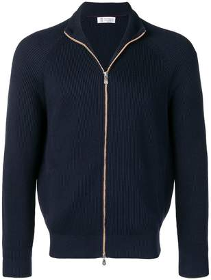 Brunello Cucinelli ribbed zipped cardigan
