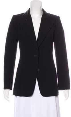 Hermes Leather-Trimmed Wool Blazer
