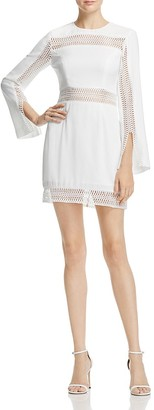 Keepsake Do It Right Long-Sleeve Embroidered Mini Dress $185 thestylecure.com