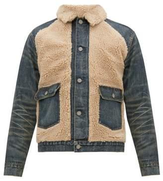 Ralph Lauren RRL Faux Shearling And Denim Jacket - Mens - Blue