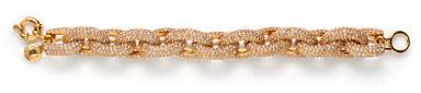 J.Crew Classic pavé link bracelet