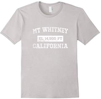 Mount Whitney California T Shirt Elevation 14