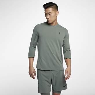 Nike NikeCourt Dry Challenger Men's 3/4-Sleeve Tennis Top