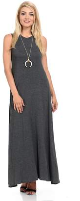 Pastel by Vivienne Women's Sleeveless Maxi Dress Pockets