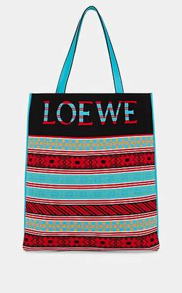 Loewe Men's Leather & Knit Tote Bag