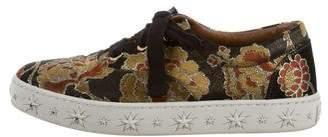 Aquazzura Brocade Low-Top Sneakers