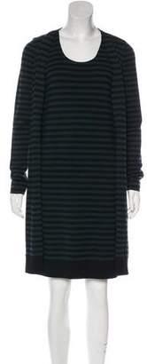 Akris Punto Stripe Wool Dress