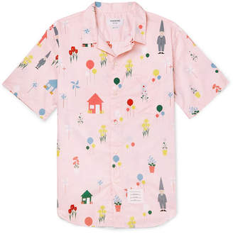Thom Browne Printed Cotton Shirt - Pink
