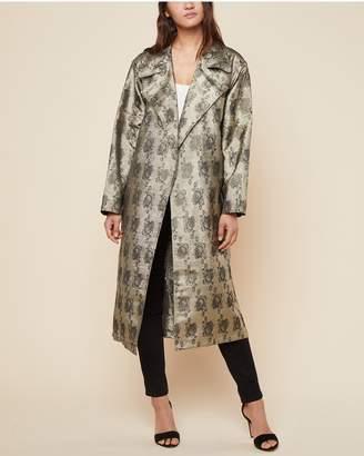 Juicy Couture Metallic Rose Jacquard Coat