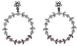 MANGO Faceted crystal hoop earrings