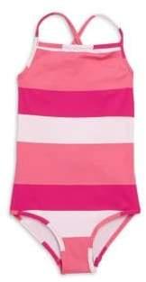 Oscar de la Renta Little Girl's & Girl's One-Piece Colorblock Swimsuit